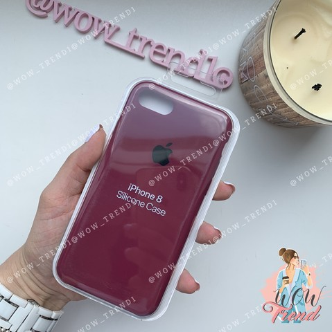 Чехол iPhone 7/8 Silicone Case /marsala/ марсал 1:1