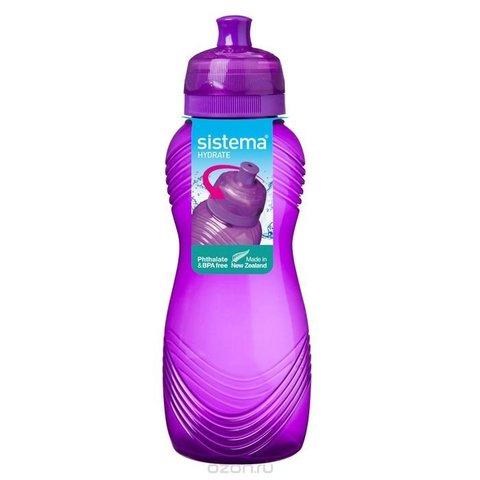 Бутылка для воды Sistema, фиолетовая 600 мл