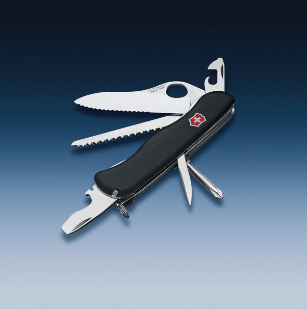 Складной нож Victorinox Trailmaster One Hand Black, серрейторное лезвие (0.8463.MW3) - Wenger-Victorinox.Ru