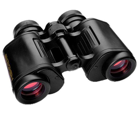 Бинокль БПЦс6 8х30: обрезиненный корпус, рубиновое покрытие линз объектива