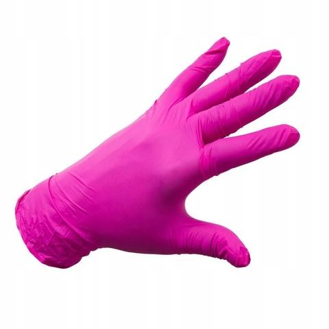 Перчатки фуксия нитриловые одноразовые 1уп - 50пар