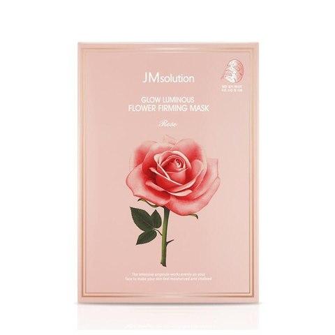 Тканевая маска с экстрактом дамасской розы, 30 мл / JMSolution Glow Flower Firming Mask Rose