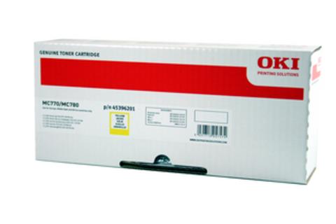 Тонер-картридж OKI для MC770, MC780, MC712 Yellow. Ресурс 11500 стр. (45396201)