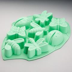 Форма 27х20,5х3см для выпечки 8 кексов силиконовая
