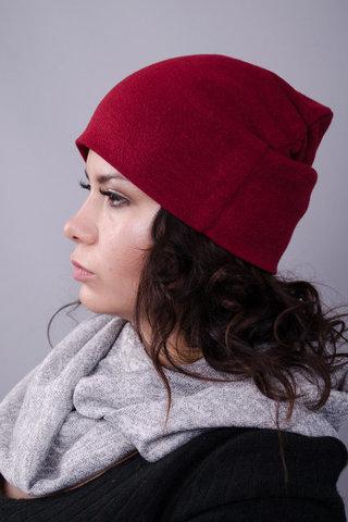 Фэшн. Молодёжные женские шапки. Бордо.