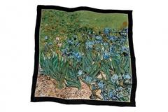 Итальянский платок из шелка зеленый 0476