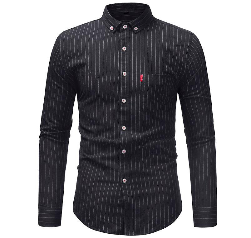 мужские рубашки Мужская рубашка в полоску с длинным рукавом Slim Fit Снимок_экрана_2019-05-27_в_10.39.11.png
