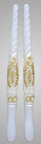 Свечи венчальные с кольцами