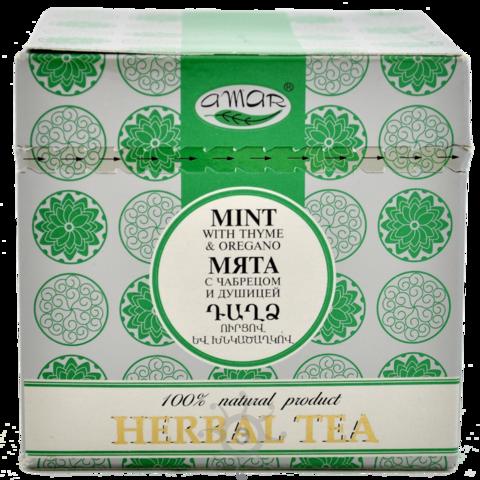 Чай травяной Мята, чабрец и душица Амар, в пакетиках 20х2г