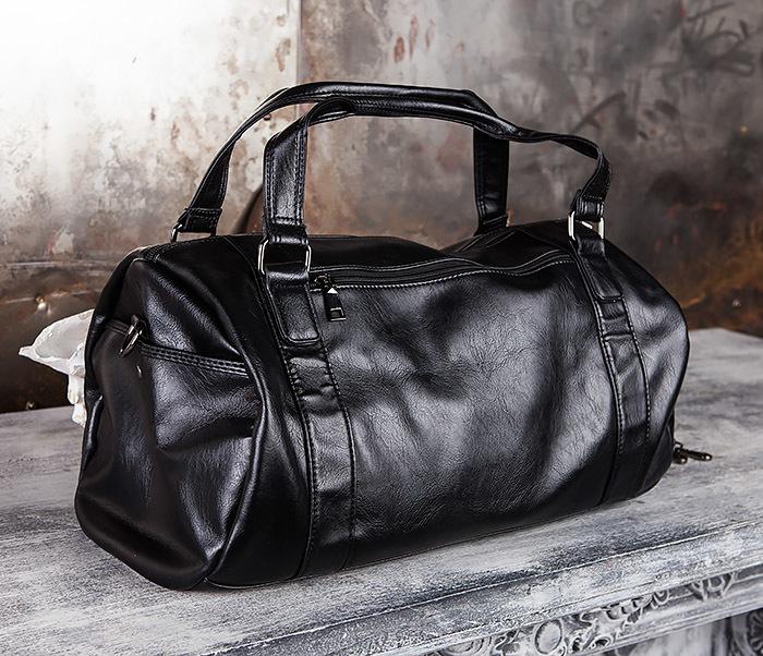 825ec7c3a742 BAG429-1 Крутая кожная сумка - туба с ремнем на плечо