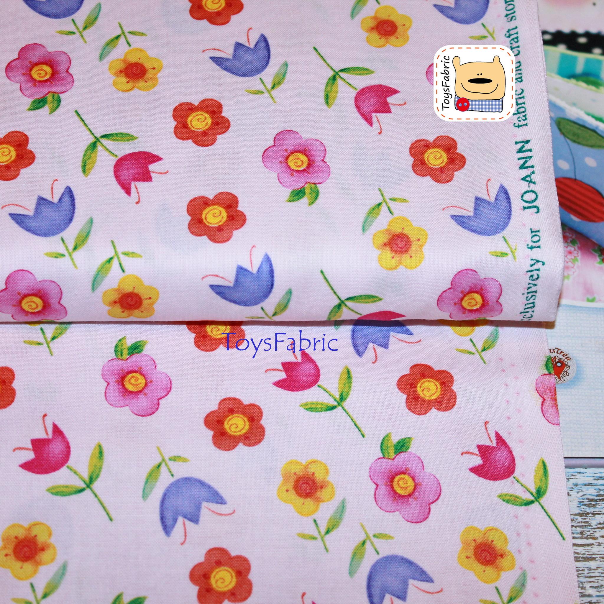Ткань для пэчворка 20787 (цветы на розовом) 45х55см