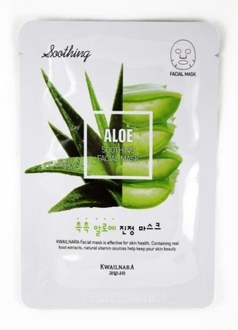WELCOS Kwailnara Маска для лица успокаивающая Kwailnara Aloe Soothing Facial Mask