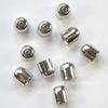 Концевик для шнура 7 мм, 9х8 мм (цвет - античное серебро), 10 штук