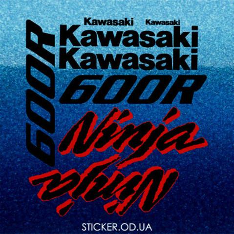 Набор виниловых наклеек на мотоцикл  Kawasaki GPX 600R, Ninja
