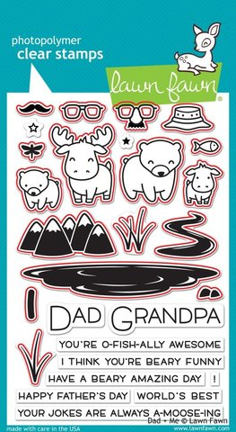 "Набор штампов с координирующими НОЖАМИ  ""dad + me - lawn cuts"""
