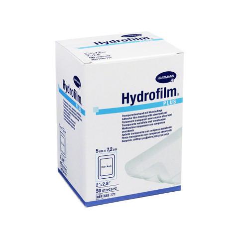 Гидрофилм Плюс - Hydrofilm Plus, липкая пленка с подушечкой, 5х7,2, см