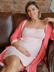 Евромама. Евромама. Комплект для беременных и кормящих двухцветный, рукав 3/4, коралл вид 4