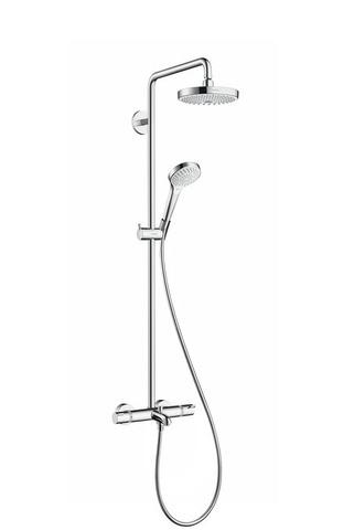 Душевой комплект Hansgrohe 27351400 Croma Select S 180 2jet Showerpipe, белый/хром