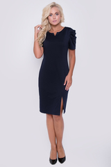 Элегантное платье для изысканных дам. Оригинальный фасон подчеркнет Вашу индивидуальность. Платье выполнено из мягкого трикотажа.