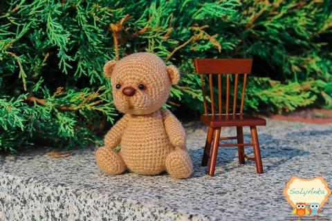 В'язана крихітка - ведмедик бежевий