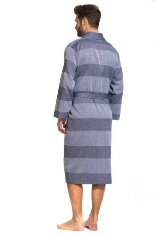 Легкий мужкой халат из органического хлопка 417 PÊCHE MONNAIE