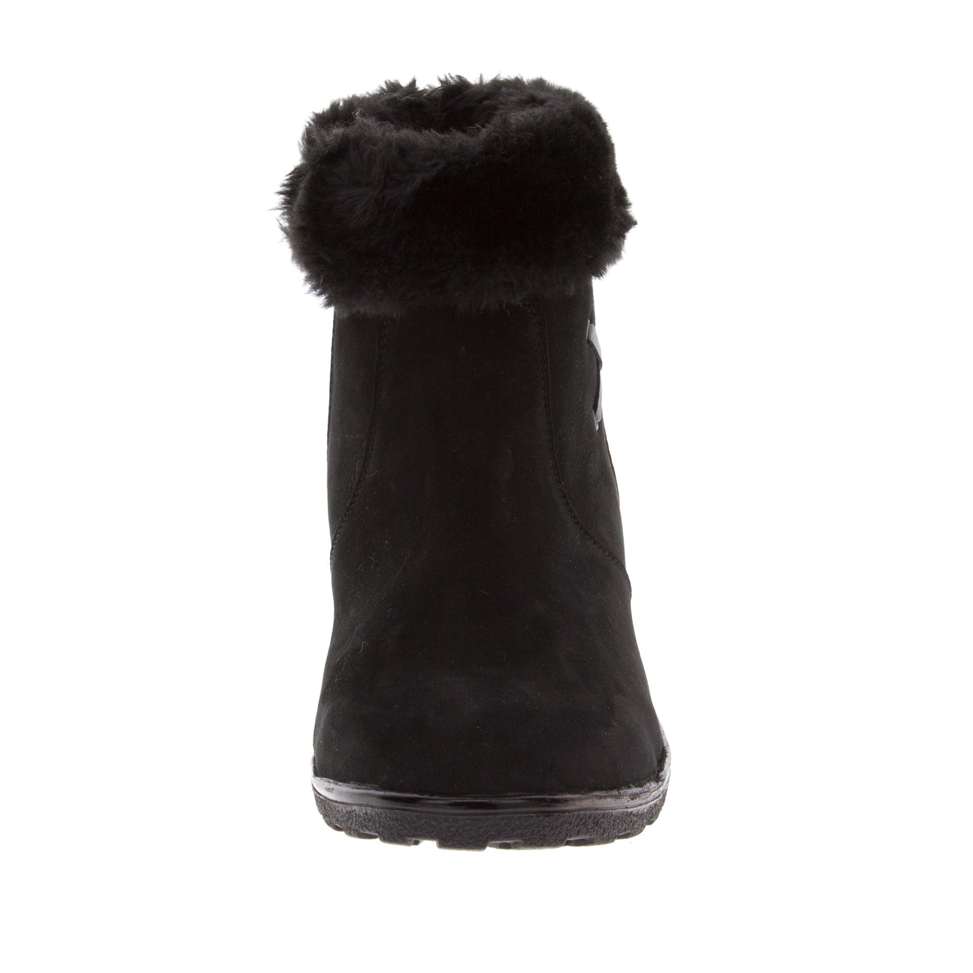 574401 Полусапожки женские черные больших размеров марки Делфино
