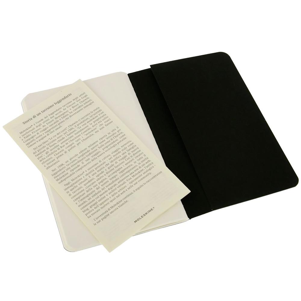 Набор 3 блокнота Moleskine Cahier Journal Pocket, 64 стр., черный, нелинованный
