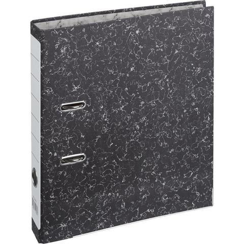 Папка с арочным механизмом 50 мм мрамор черная