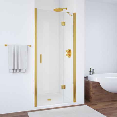 Душевая дверь в нишу Vegas Glass AFP профиль золото, стекло прозрачное