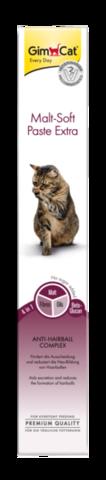 GIMCAT Мальт Софт Экстра паста для кошек для выведения шерсти 100г