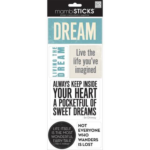 Стикеры  mambi Specialty Stickers Live Well 13х30 см