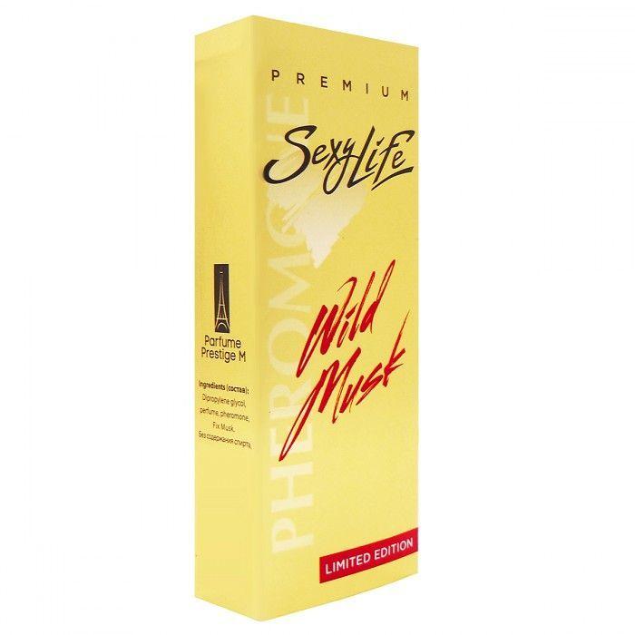 Духи и смазки для женщин: Женские духи Wild Musk №5 с мускусом и феромонами - 10 мл.