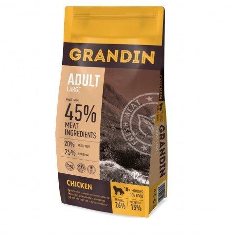 Grandin Adult Large корм для взрослых собак крупных пород, с курицей 12 кг