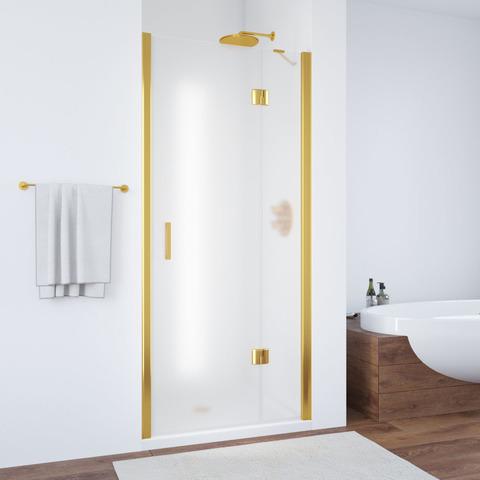 Душевая дверь в нишу Vegas Glass AFP профиль золото, стекло сатин
