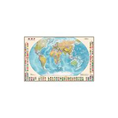 Карта Мир. Полит. с флагами. 1:30М лам., шт ОСН1224000