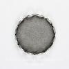 Сеттинг - основа для камеи или кабошона 13 мм (оксид серебра) (темные)