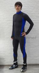 Раздельный лыжный гоночный комбинезон Ray Star Premium Gray-Blue