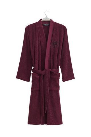 PALATIN бордовый махровый халат SOFT COTTON Турция