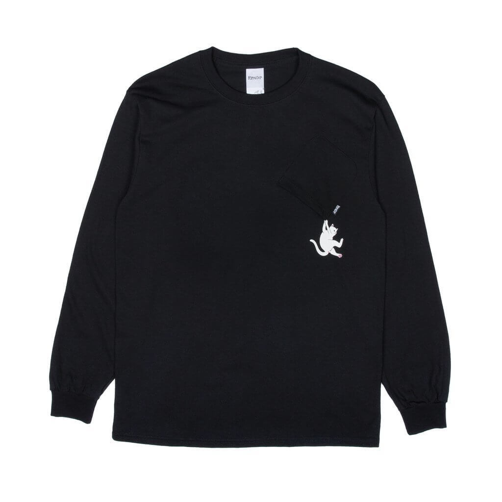 Лонгслив RIPNDIP Hang In There (Black)