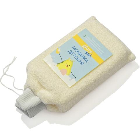 Мочалка детская массажная из натурального волокна (хлопок)