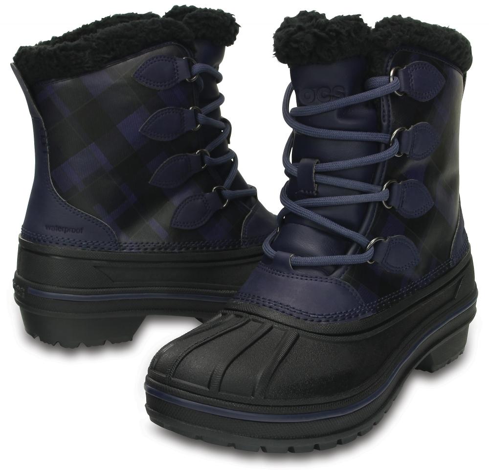 Женские зимние ботинки CROCS Women's AllCast II Boot Midnight