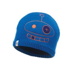 Вязаная шапка с флисовой подкладкой детская Buff Hat Knitted Polar Zogy Cape Blue