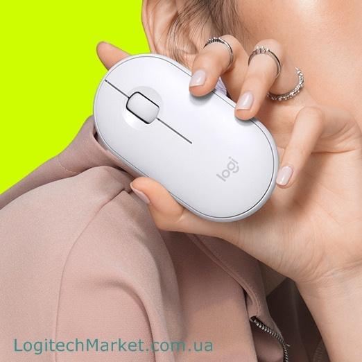 LOGITECH M350 Pebble Off-White