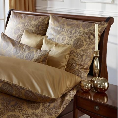 Элитная наволочка Bologna коричнево-золотая от Curt Bauer