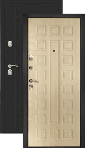 Дверь входная Дверной континент Сити-1, 2 замка, 1,5 мм  металл, беленый дуб