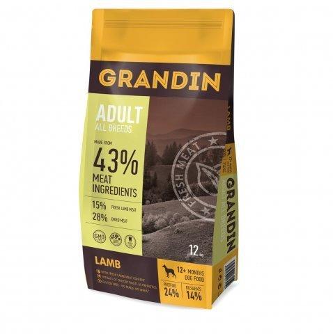 Grandin Adult All Breeds сухой корм для взрослых собак всех пород, с ягненком 12 кг