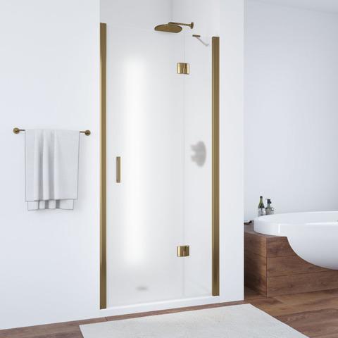 Душевая дверь в нишу Vegas Glass AFP профиль бронза, стекло сатин