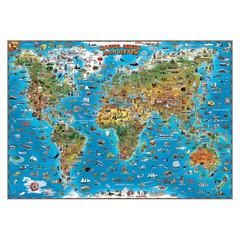 Настенная карта Карта мира для детей 1,37Х0,97 978-1-905502-70-7