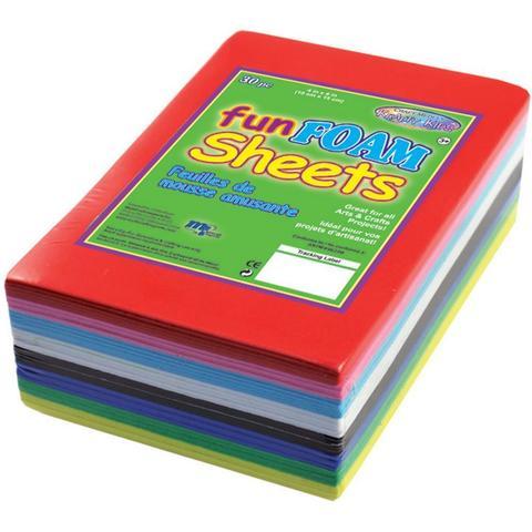 Фоамиран Foam Sheets 10х15см / 1.5mm -Primary Colors -30шт. /8 цветов