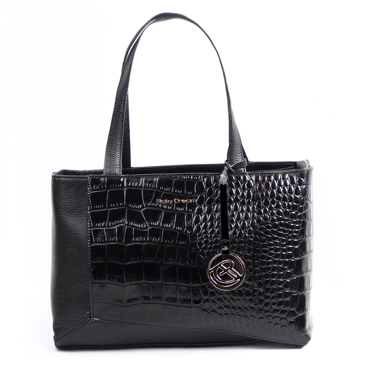 9050 FD кожа /крокодил черный (сумка женская)